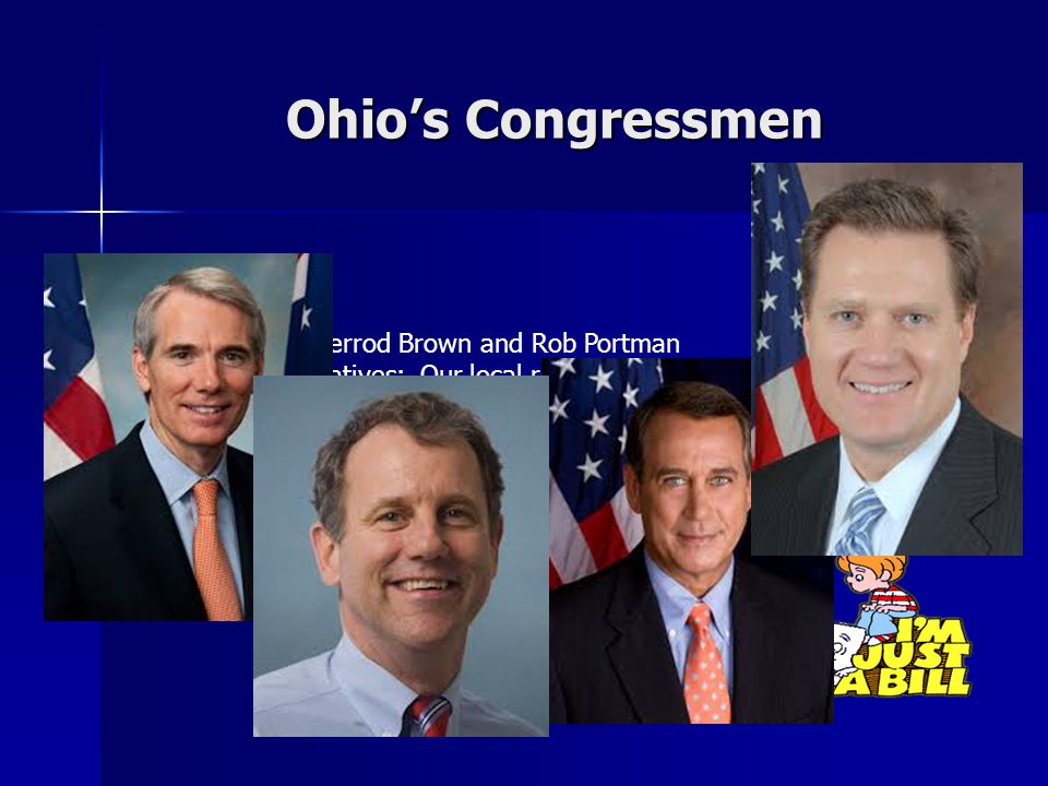 Ohio's Congressmen Senators: Sherrod Brown and Rob Portman