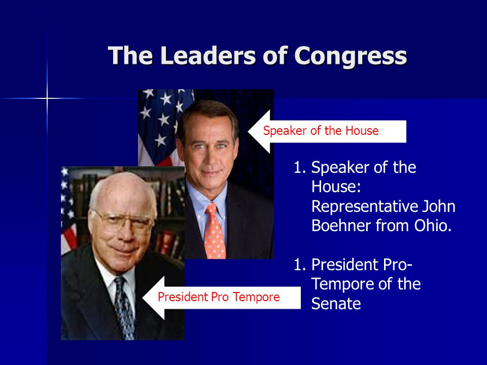 The Leaders of Congress