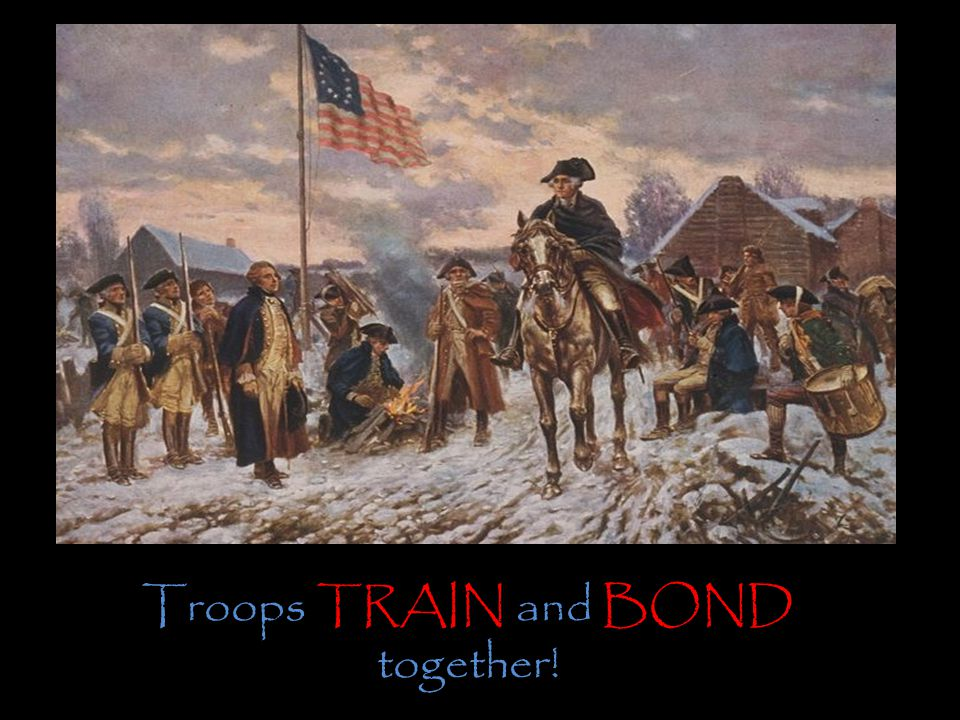 Troops TRAIN and BOND together!