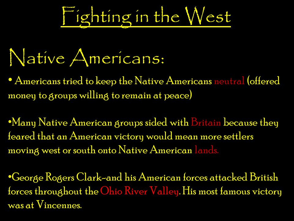 Fighting in the West Native Americans: