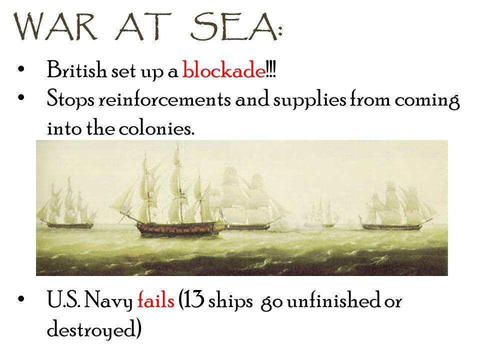 WAR AT SEA: British set up a blockade!!!