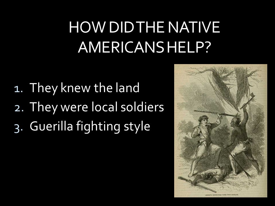 HOW DID THE NATIVE AMERICANS HELP