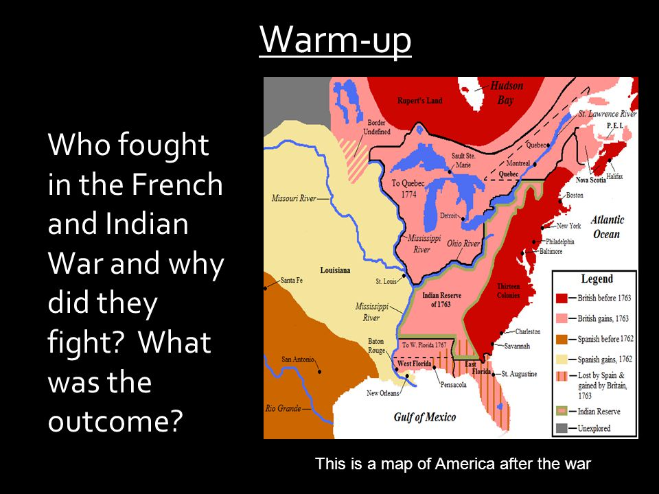 This is a map of America after the war