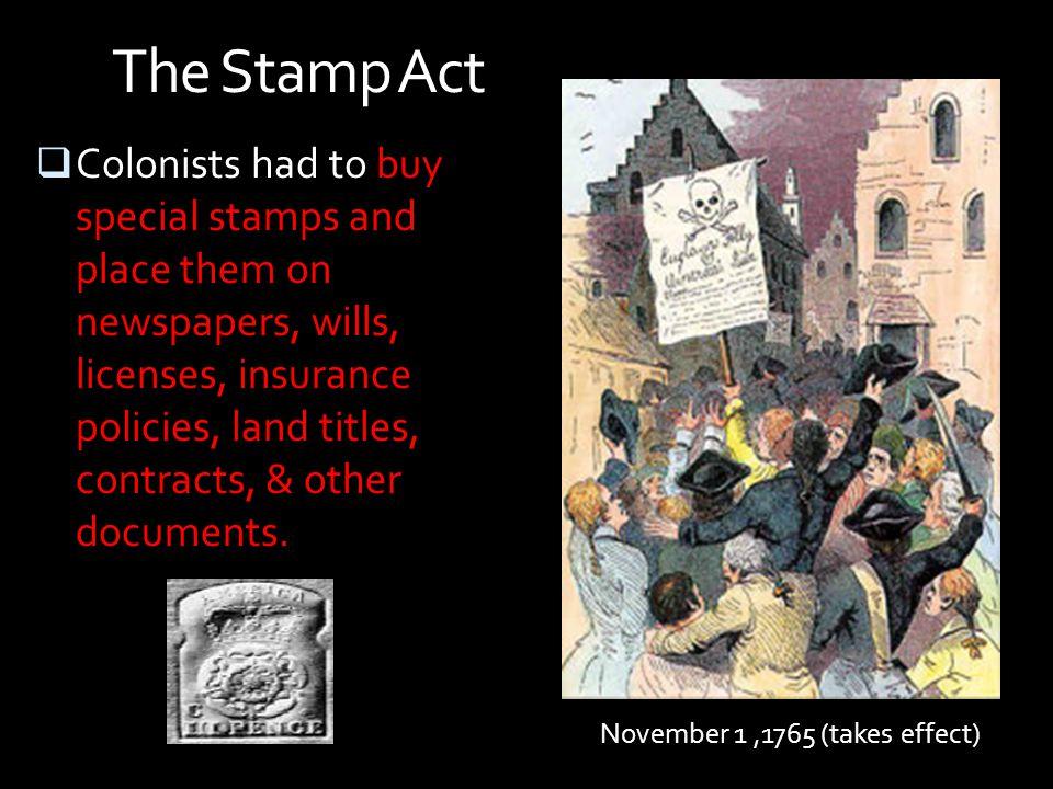 November 1 ,1765 (takes effect)