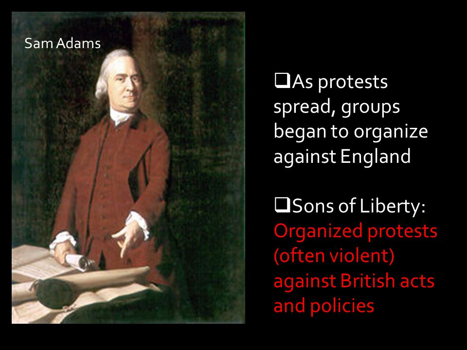 As protests spread, groups began to organize against England