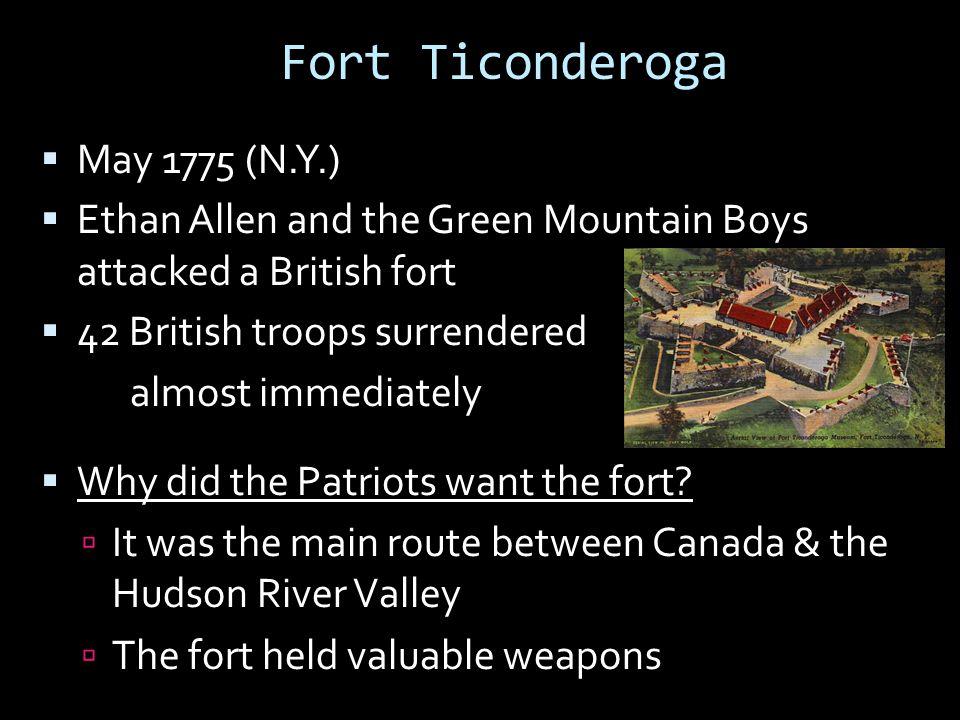 Fort Ticonderoga May 1775 (N.Y.)
