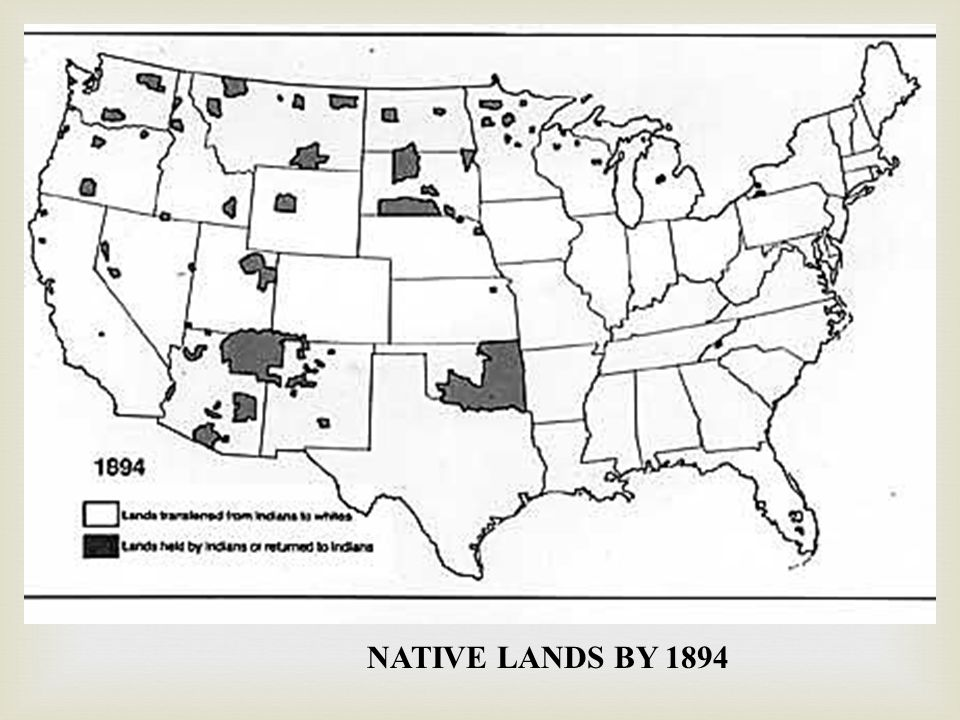 NATIVE LANDS BY 1894