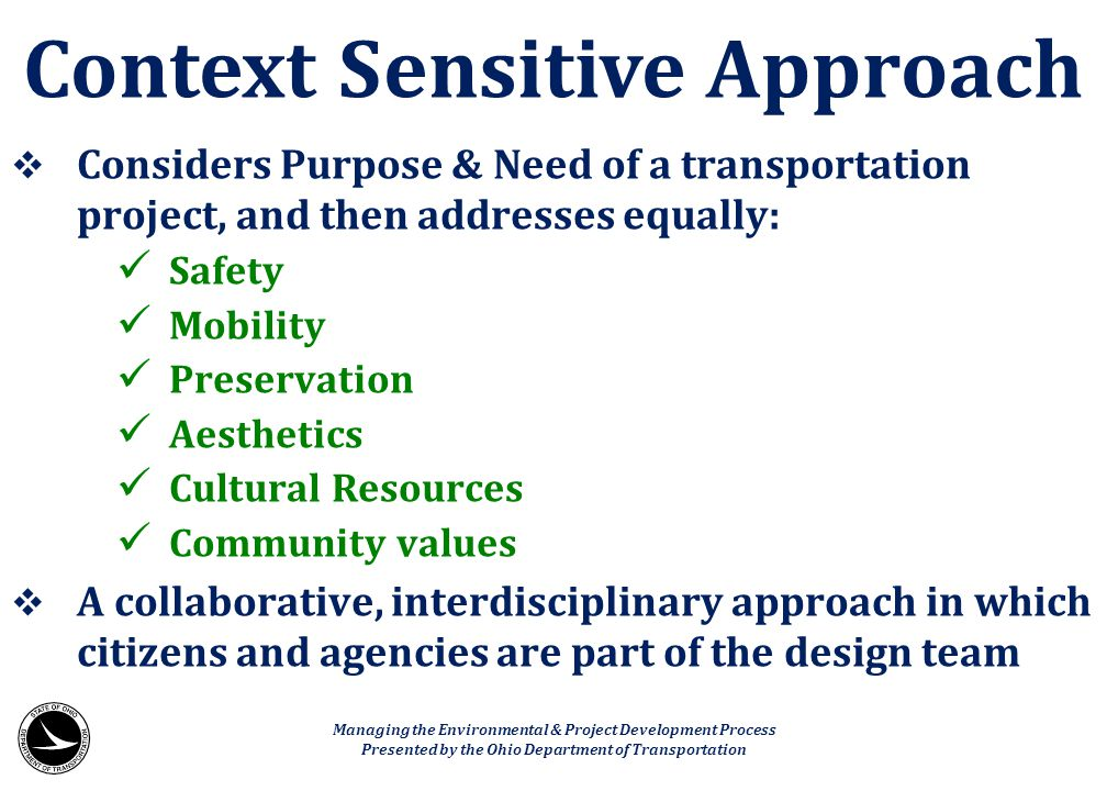 Context Sensitive Approach