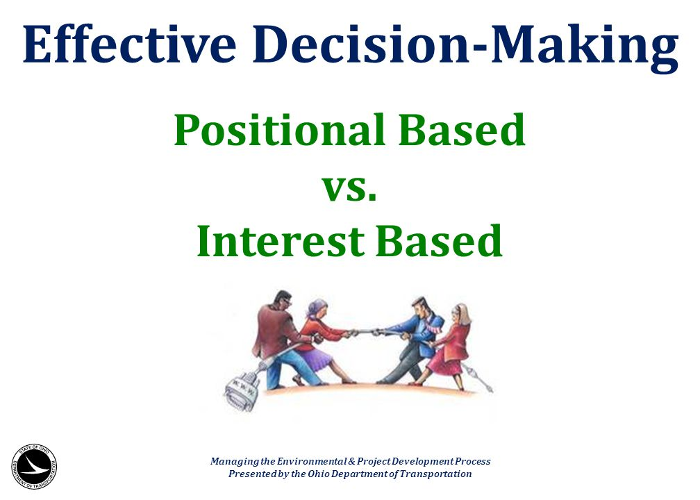 Effective Decision-Making
