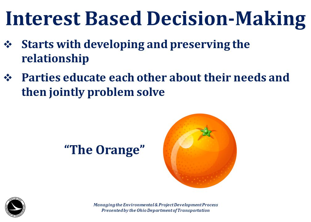 Interest Based Decision-Making