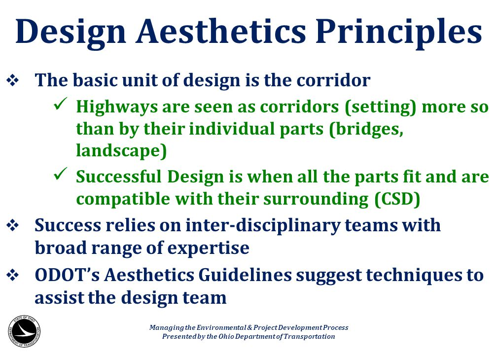 Design Aesthetics Principles