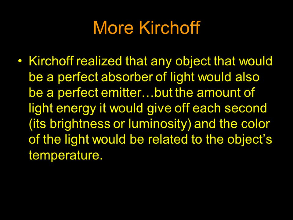 More Kirchoff