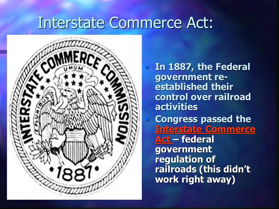 Interstate Commerce Act: