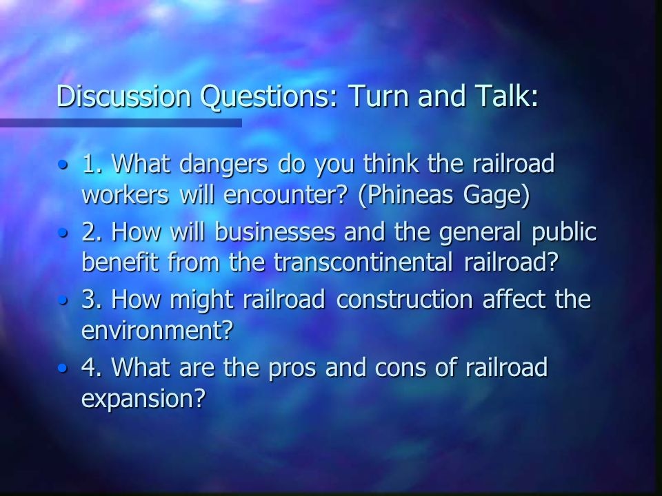 Discussion Questions: Turn and Talk: