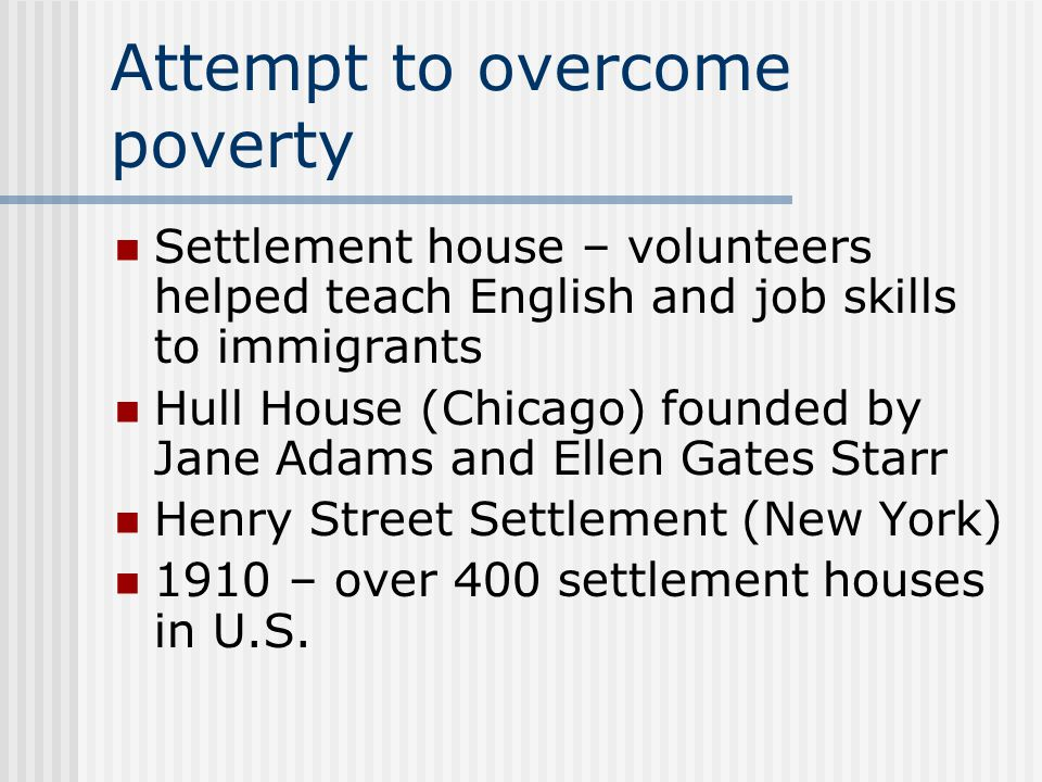 Attempt to overcome poverty