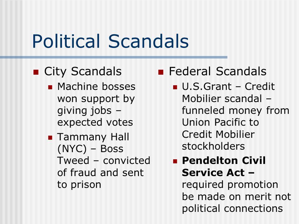 Political Scandals City Scandals Federal Scandals