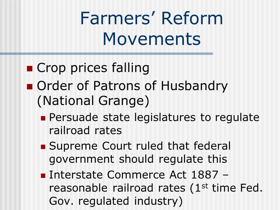 Farmers' Reform Movements