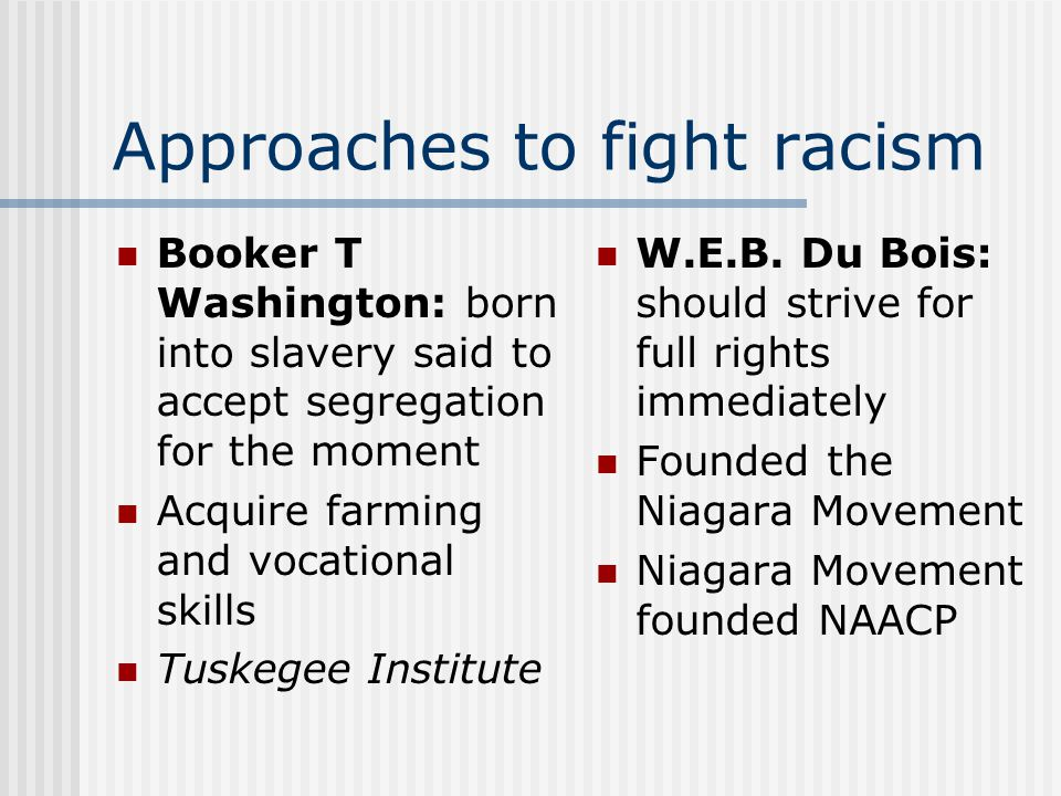 Approaches to fight racism