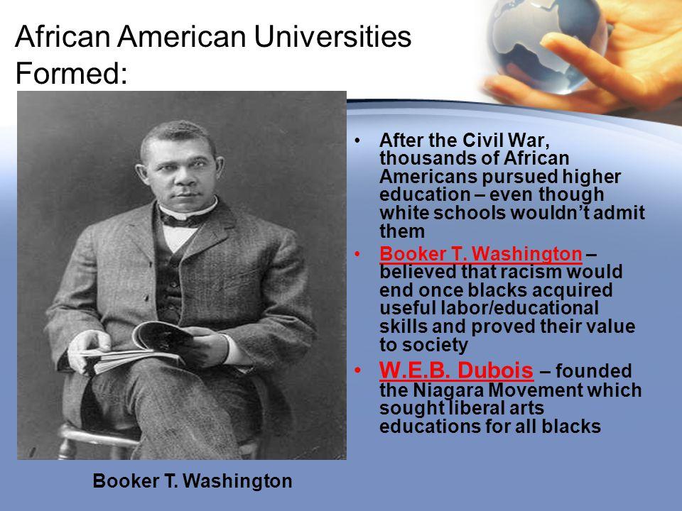 African American Universities Formed: