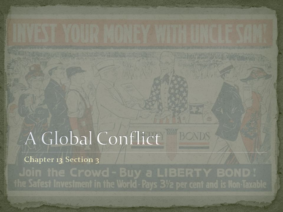 A Global Conflict Chapter 13 Section 3