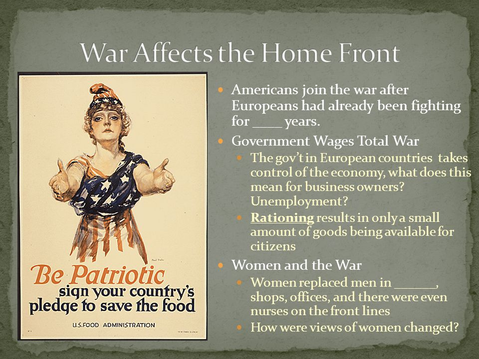 War Affects the Home Front