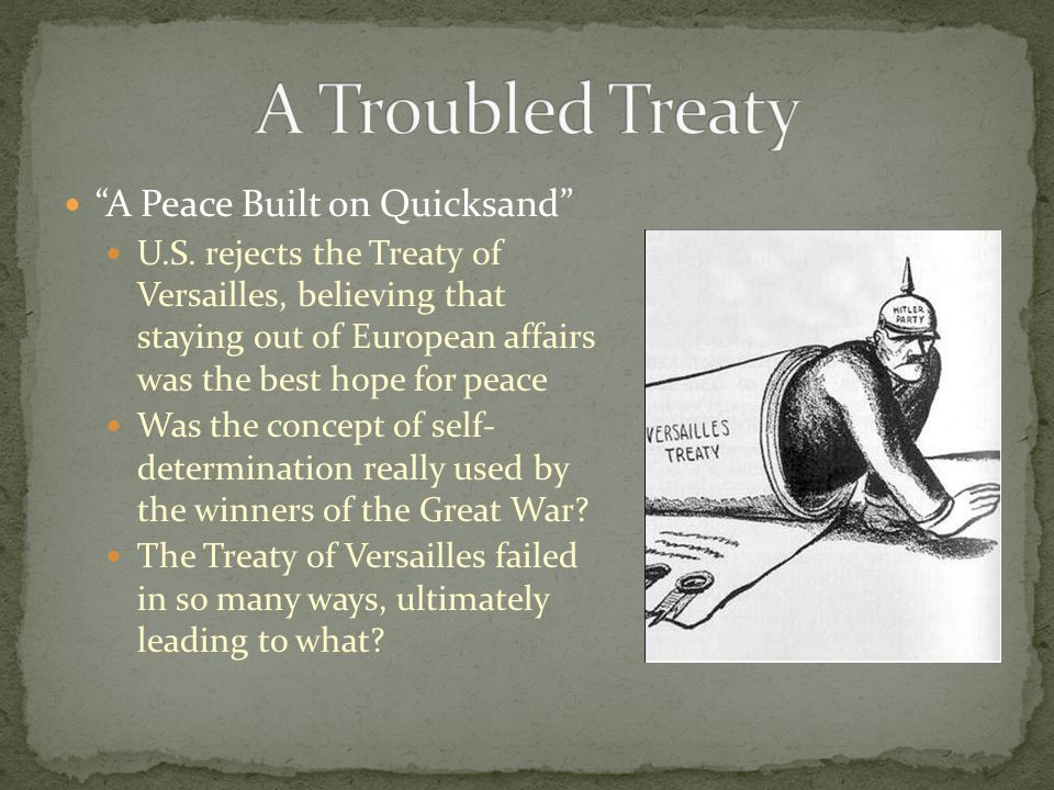 A Troubled Treaty A Peace Built on Quicksand