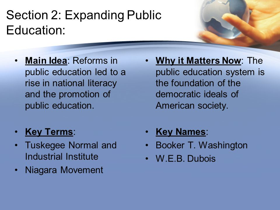 Section 2: Expanding Public Education: