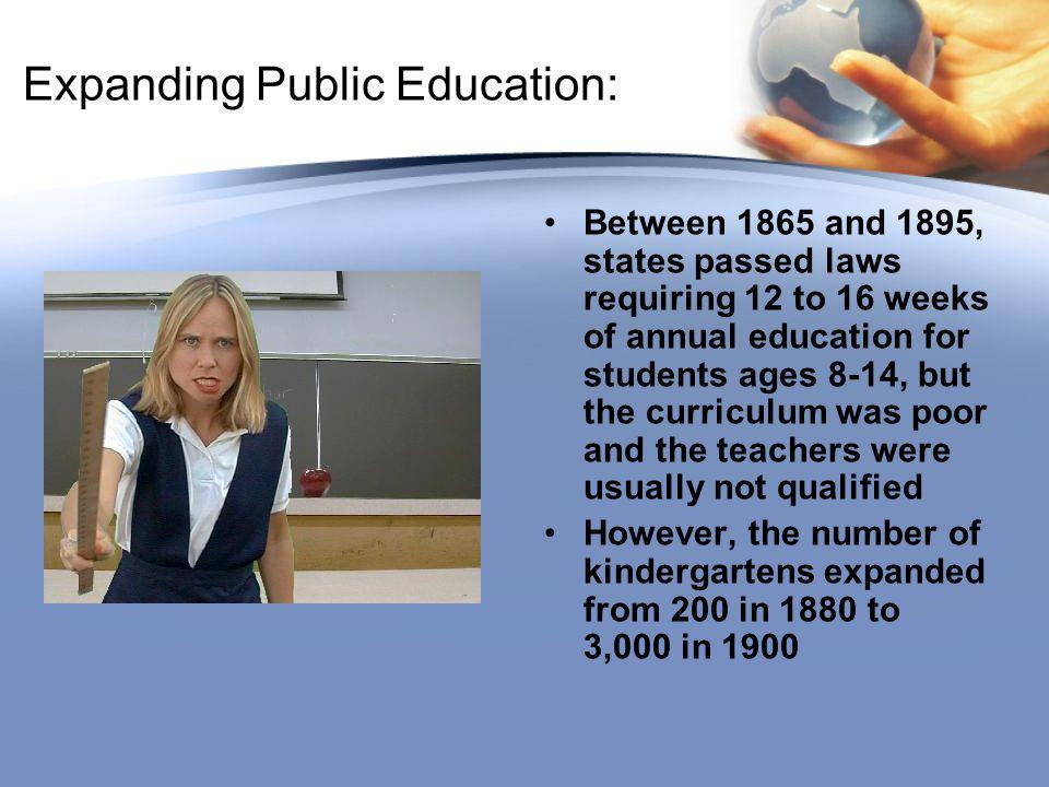 Expanding Public Education: