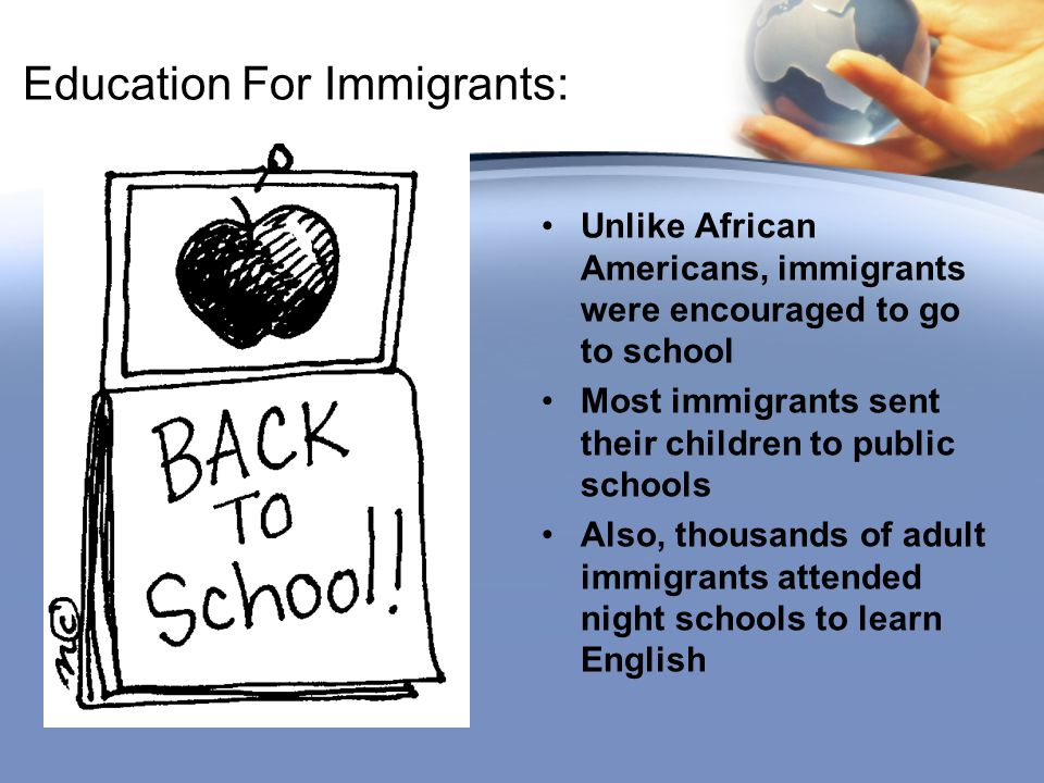 Education For Immigrants: