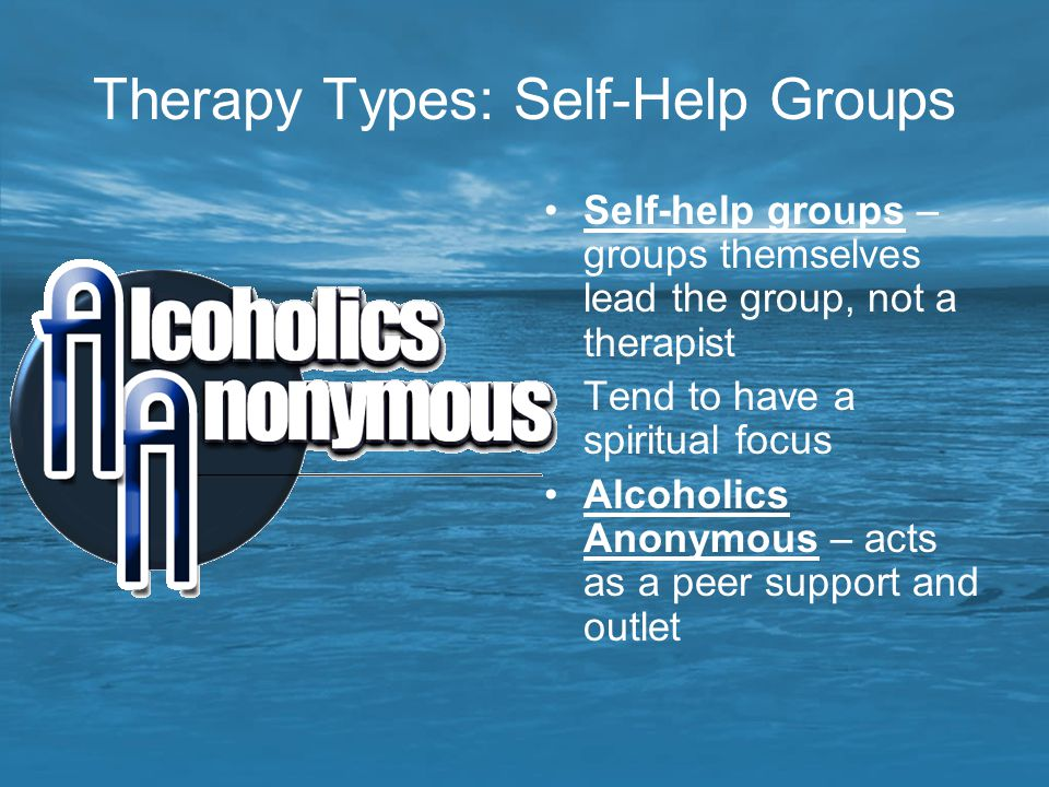 Therapy Types: Self-Help Groups