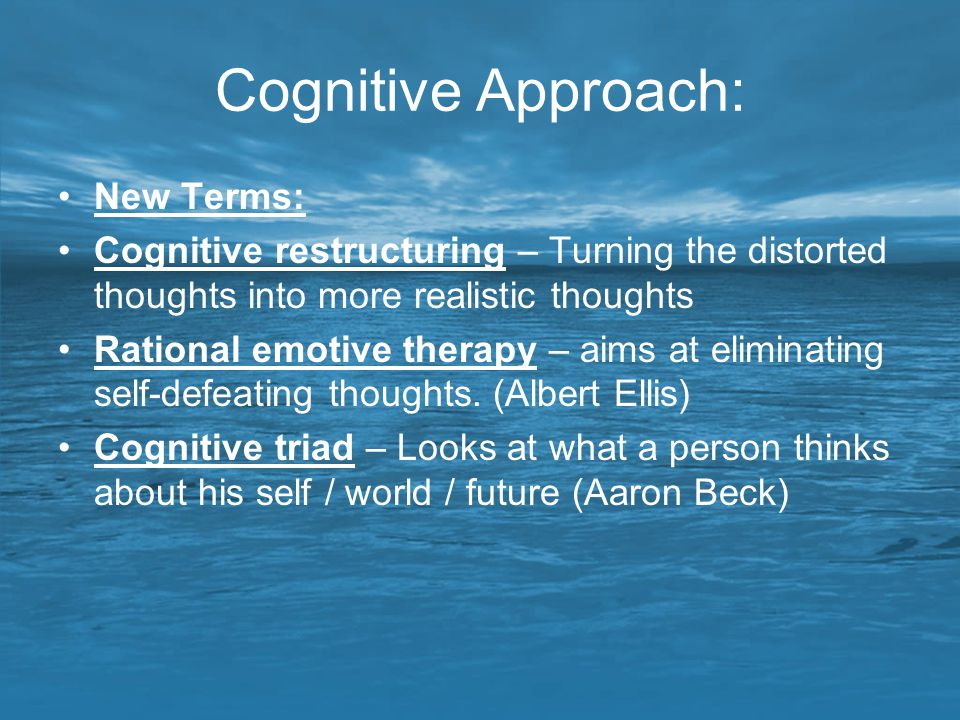 Cognitive Approach: New Terms: