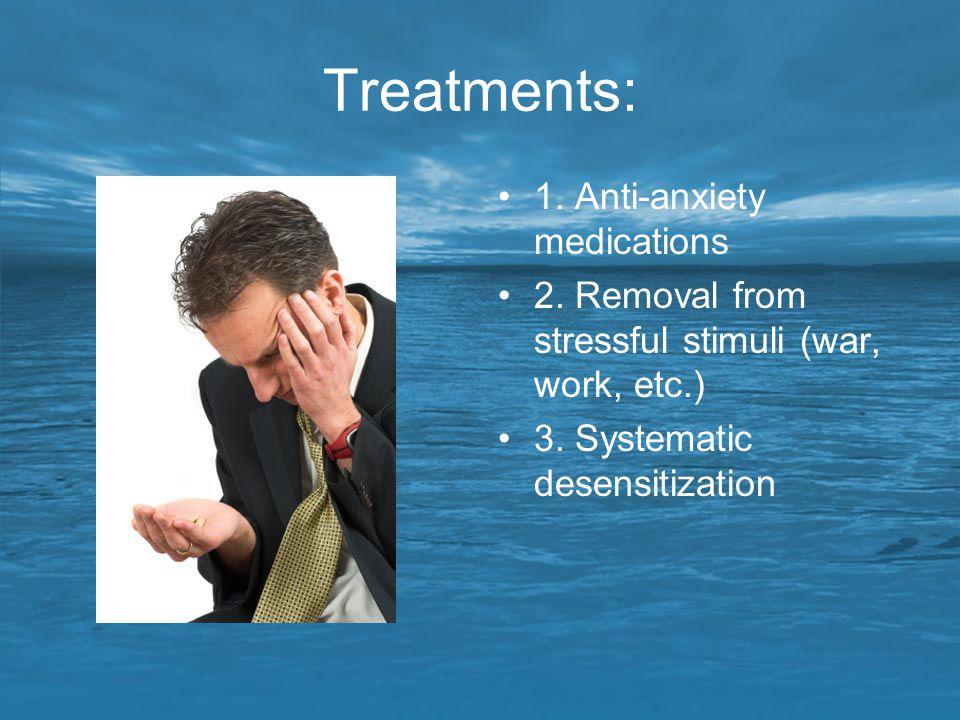 Treatments: 1. Anti-anxiety medications