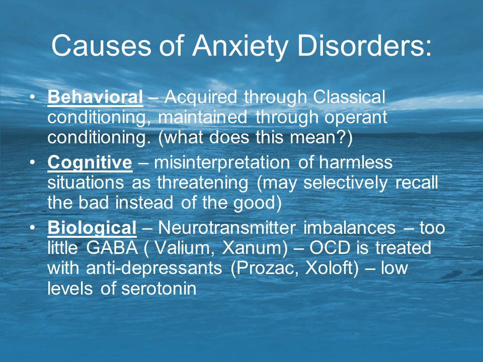 Causes of Anxiety Disorders: