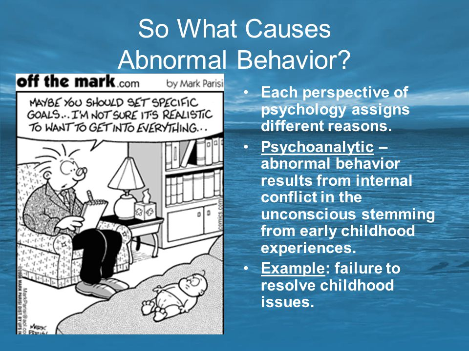 abnormal psychology maladaptive behavior essay According to the dictionary abnormal psychology is the branch of psychology dealing with mental disorders or maladaptive behavior and the study of mental retardation, hypnosis, mental phenomena such as dreams, and altered states or levels of consciousness (yourdictionary, 2010)  i will begin with.