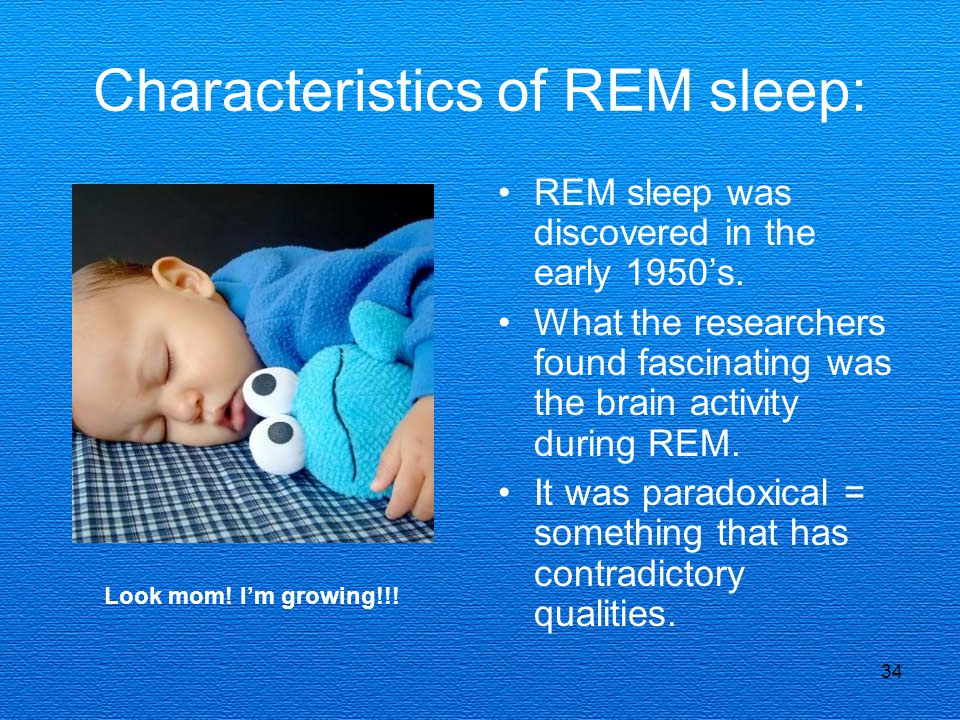 Characteristics of REM sleep: