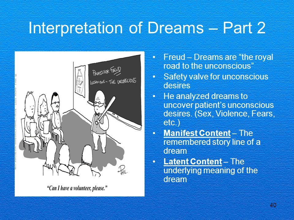Interpretation of Dreams – Part 2