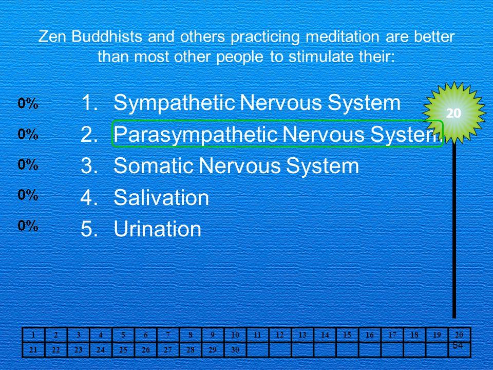 Sympathetic Nervous System Parasympathetic Nervous System