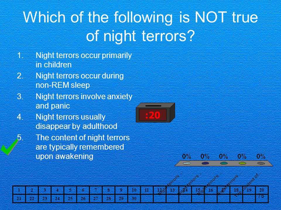 Which of the following is NOT true of night terrors