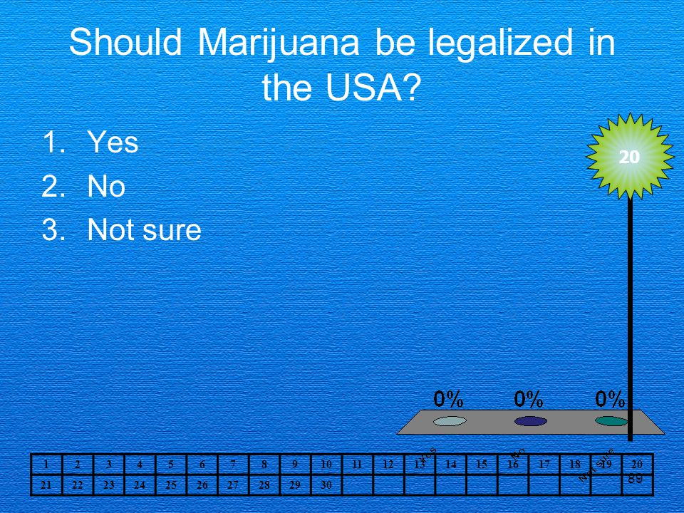 Should Marijuana be legalized in the USA