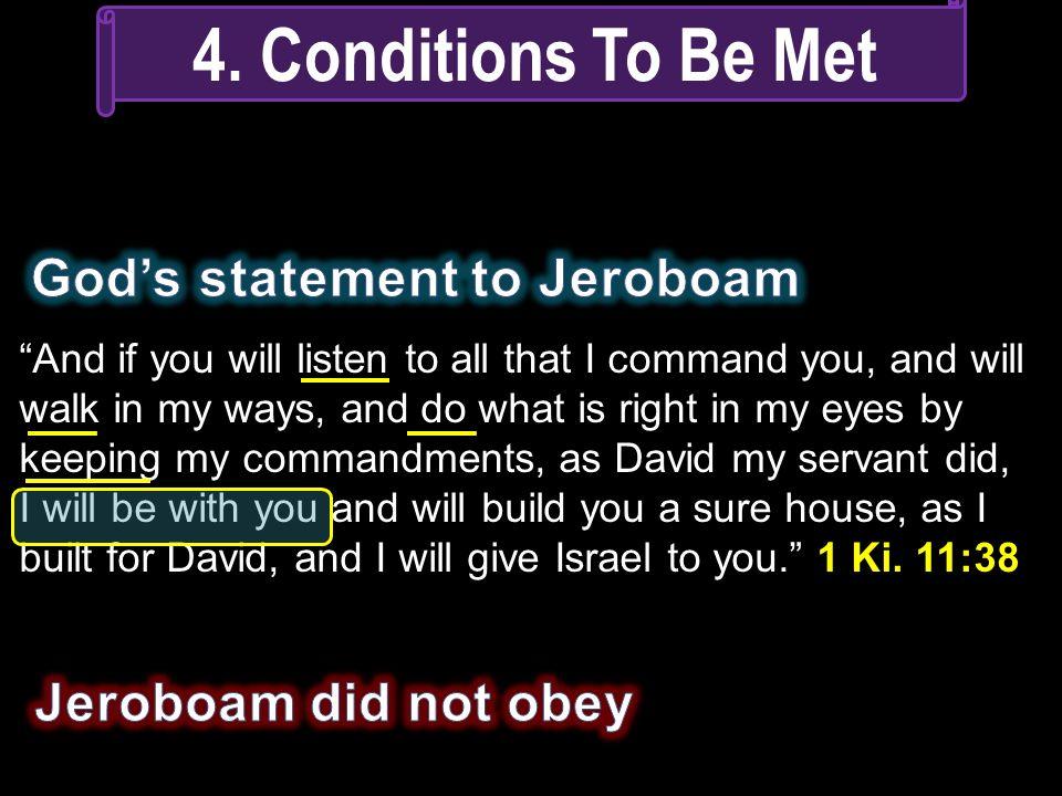 God's statement to Jeroboam