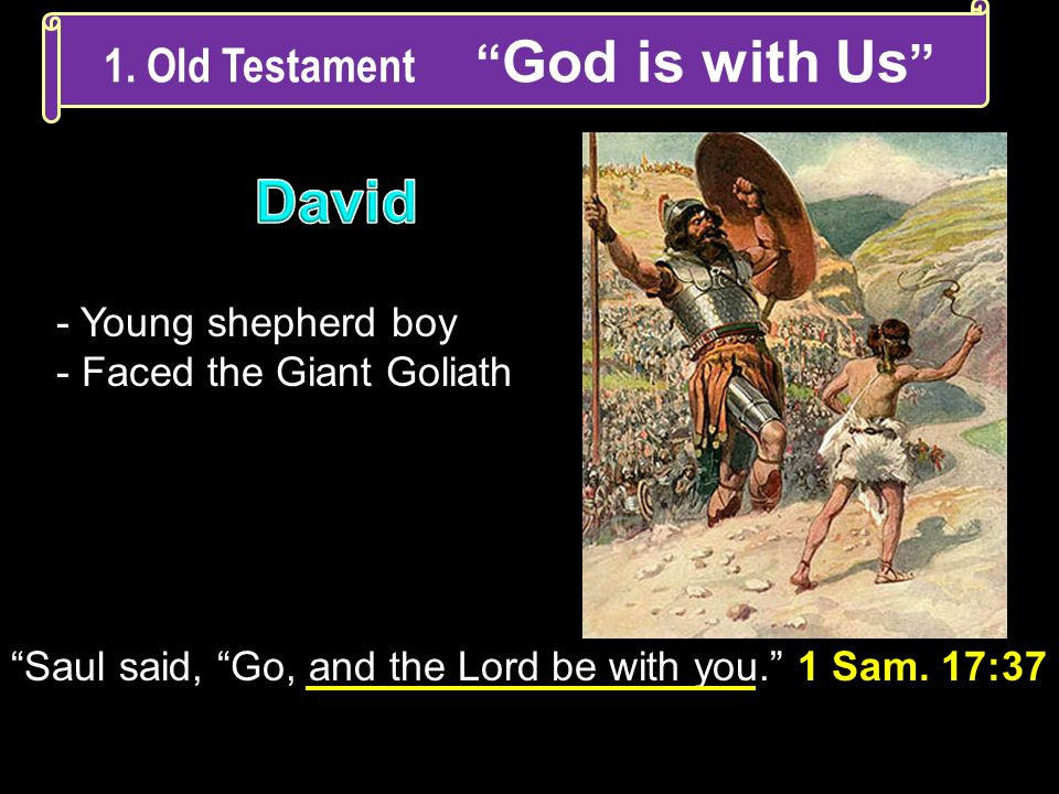 1. Old Testament God is with Us