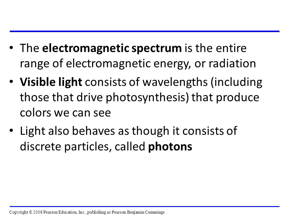 The electromagnetic spectrum is the entire range of electromagnetic energy, or radiation