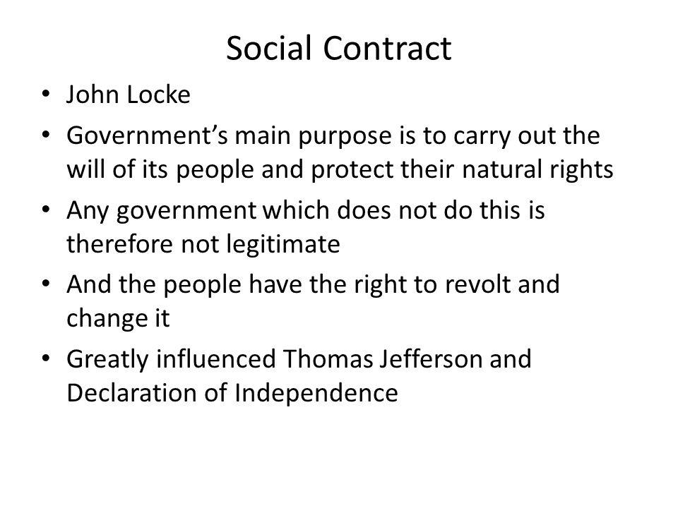 Social Contract John Locke
