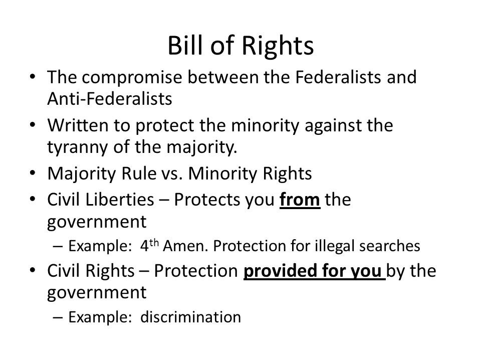 bill of rights to protect from Bill of rights first amendment [religion, speech, press, assembly, petition (1791)] (see explanation) second amendment [right to bear arms (1791)] (see explanation.