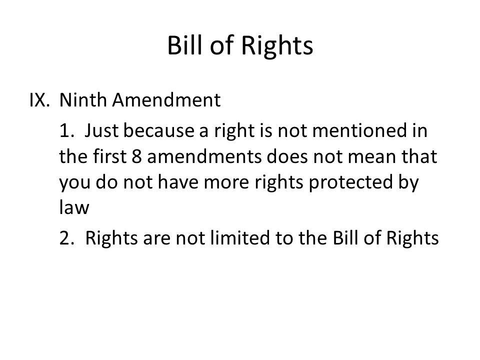 Bill of Rights Ninth Amendment