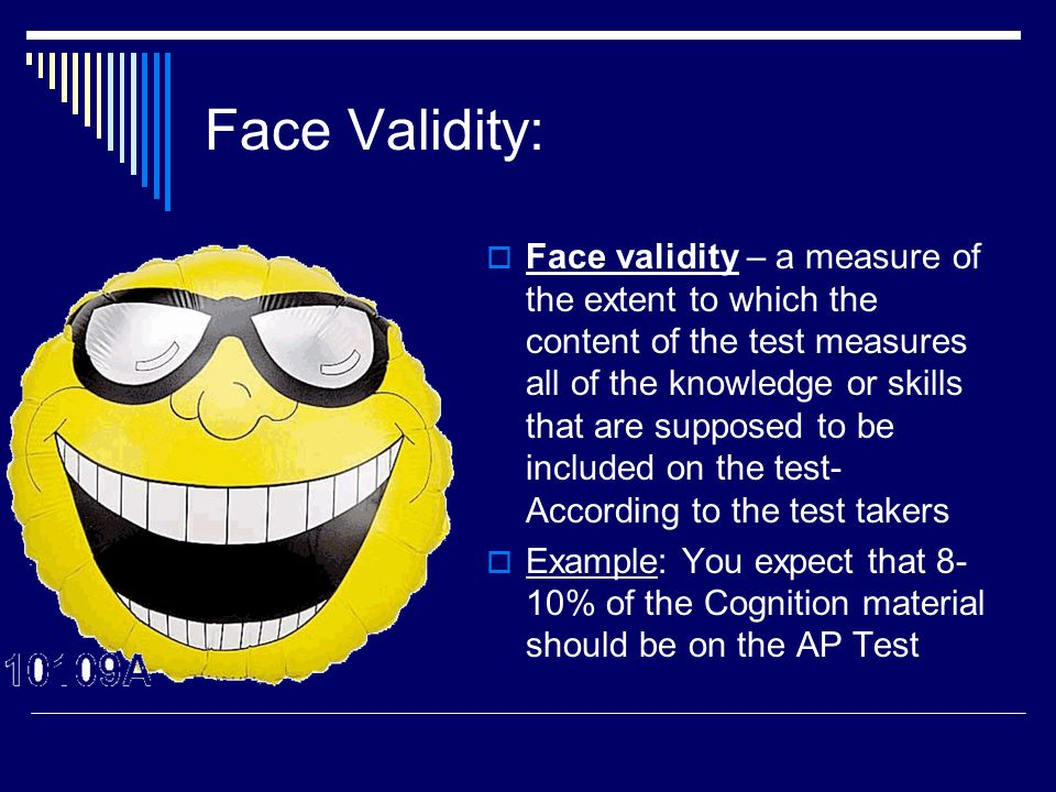 Face Validity: