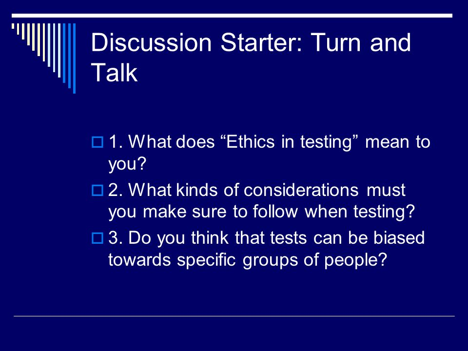 Discussion Starter: Turn and Talk