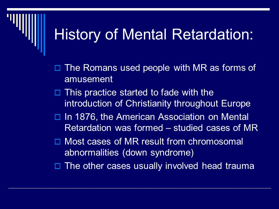 mental retardation in american society Mental retardation in american society mental retardation is a very serious illness, and most of the american population is ignorant regarding the subject 4 / 1095 for your convenience manyessays provide you with custom writing service.