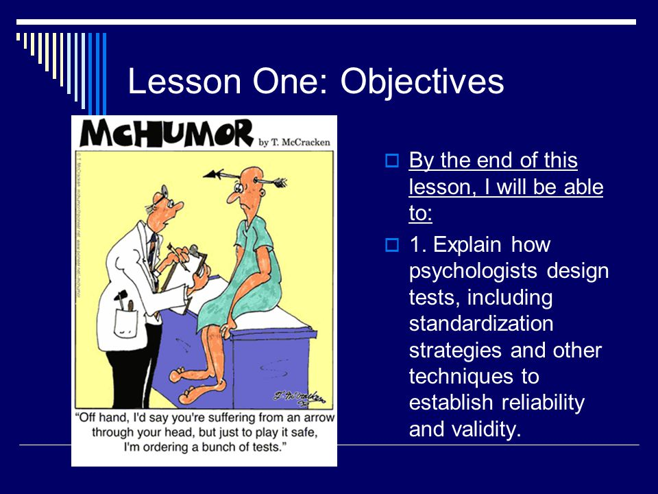 Lesson One: Objectives
