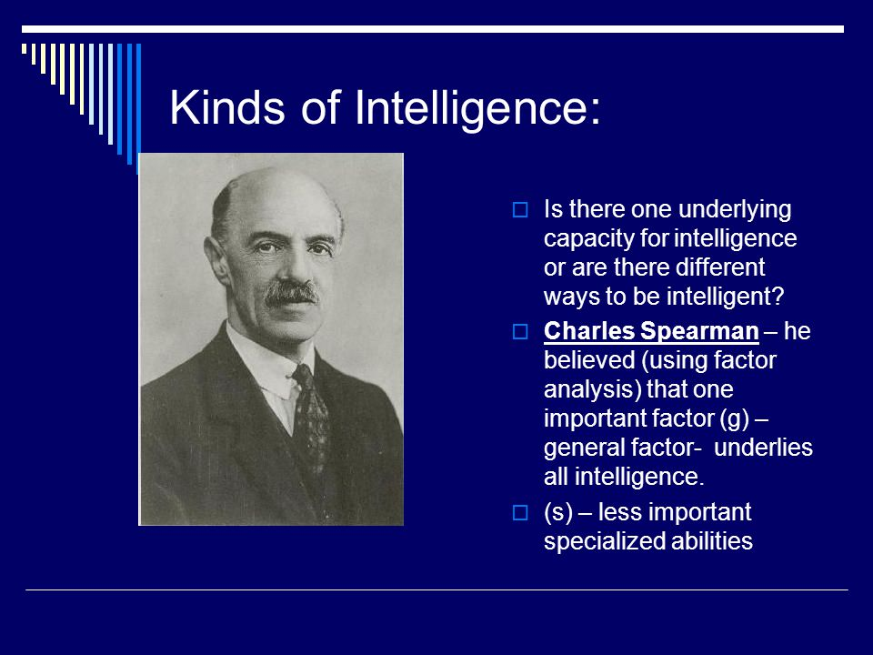 Kinds of Intelligence: